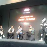 On stage Launching #SetanJalanan3 bersama Franki Indrasmoro, Haryadhi, dan Aria Baja at Galaxy Stage.